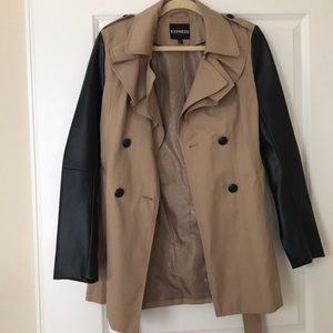 Express Jackets & Coats - Express leather trench coat!